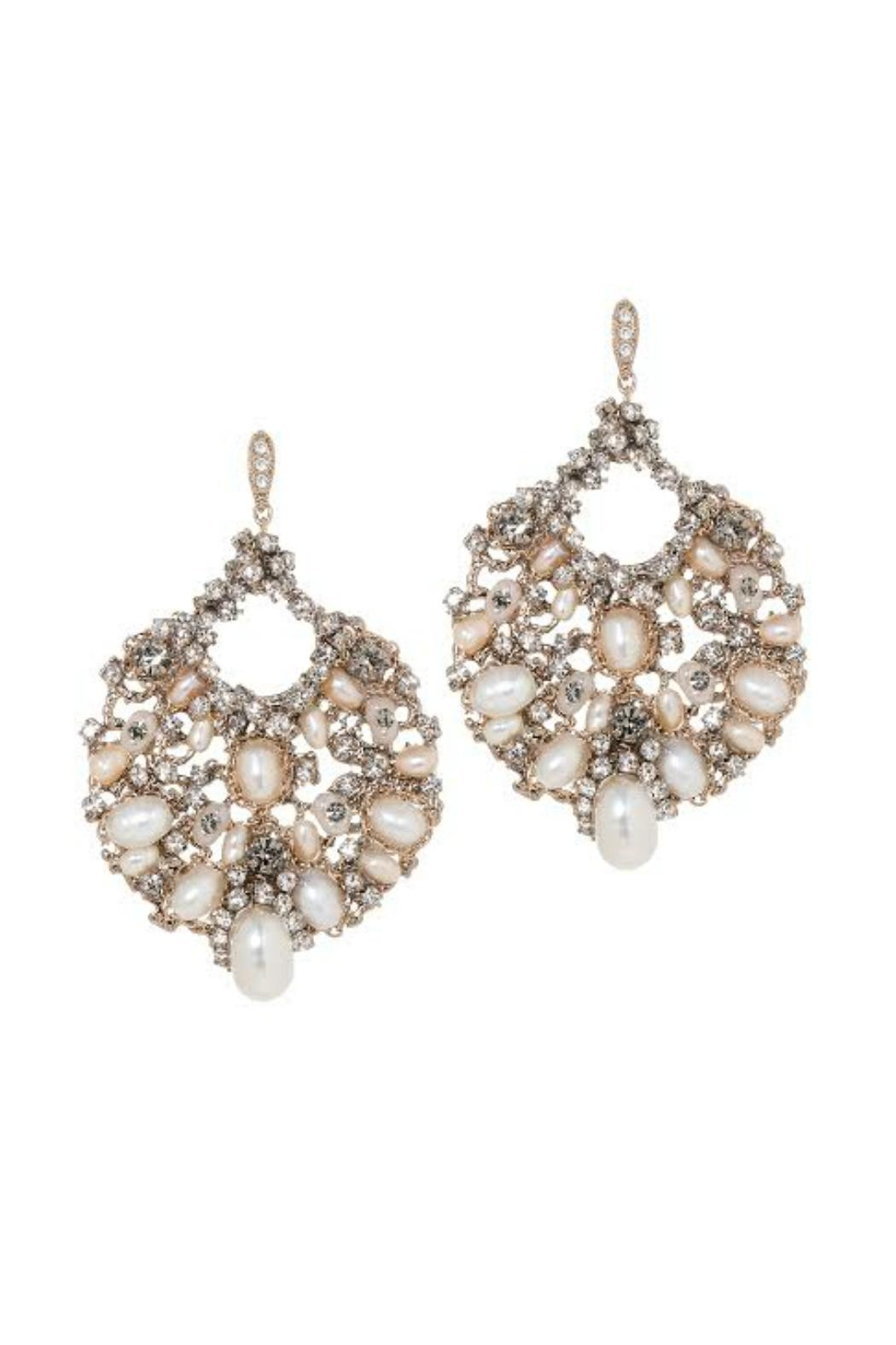 Theia Jewelry Swarovski Pearl Earrings - Front Cropped Image