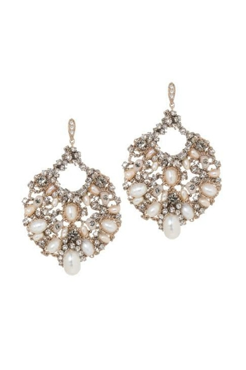 Theia Jewelry Swarovski Pearl Earrings - Main Image