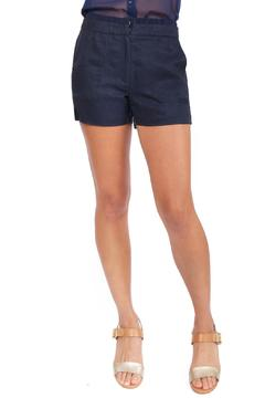 TheKorner Navy Linen Shorts - Product List Image