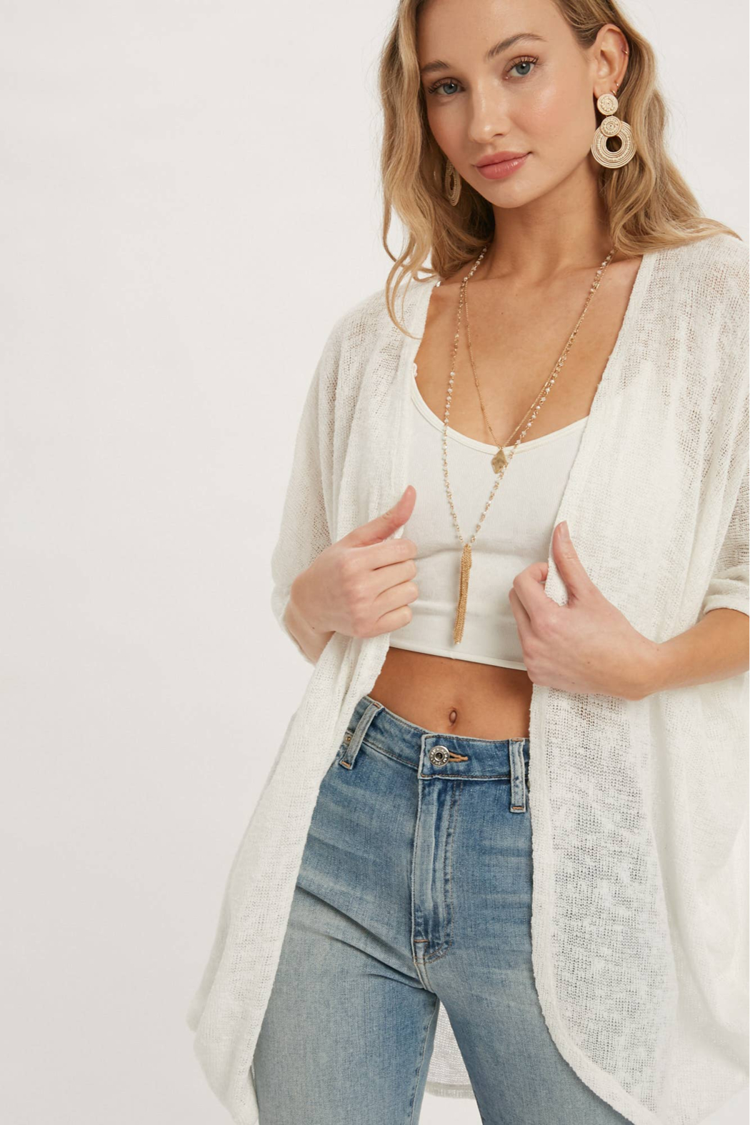 Bluivy Thelma Lightweight Dolman Cardigan - Back Cropped Image