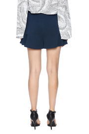 Theo Paris Navy Flare Shorts - Back cropped