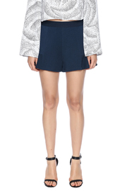 Theo Paris Navy Flare Shorts - Side cropped
