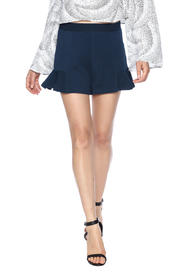 Theo Paris Navy Flare Shorts - Product Mini Image