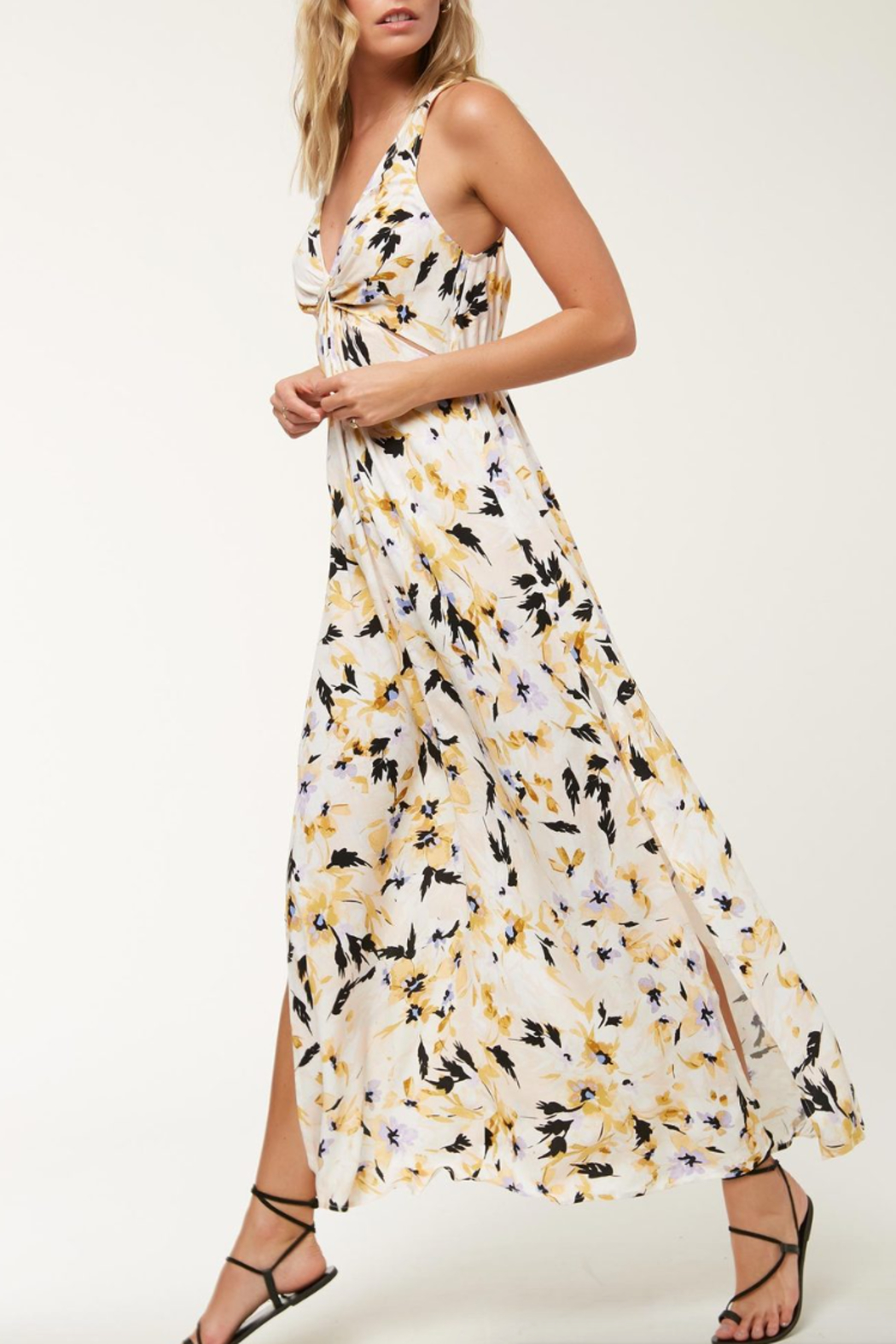 O'Neill Theodora FLoral Maxi Dress - Front Cropped Image