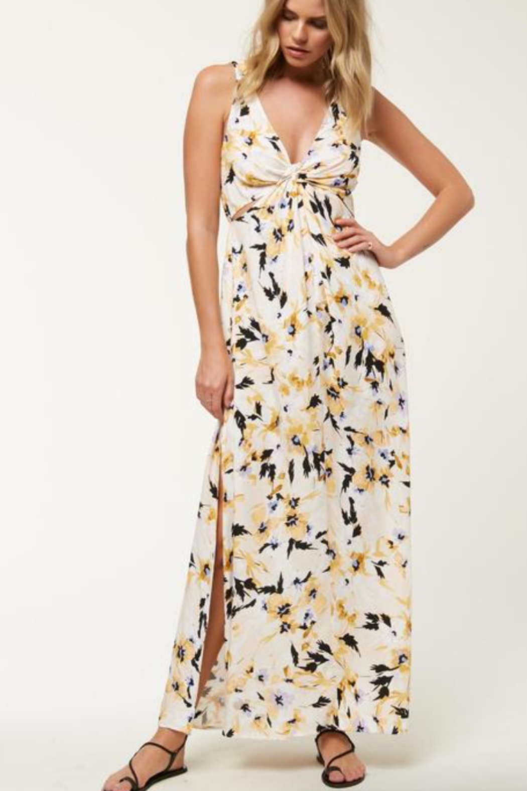 O'Neill Theodora FLoral Maxi Dress - Side Cropped Image