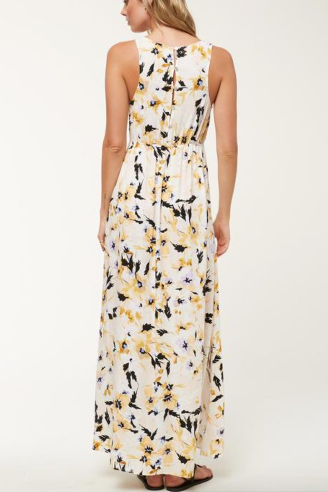 O'Neill Theodora FLoral Maxi Dress - Back Cropped Image