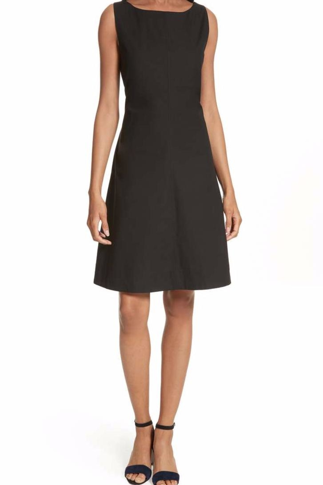 Theory Black Cocktail Dress - Front Cropped Image