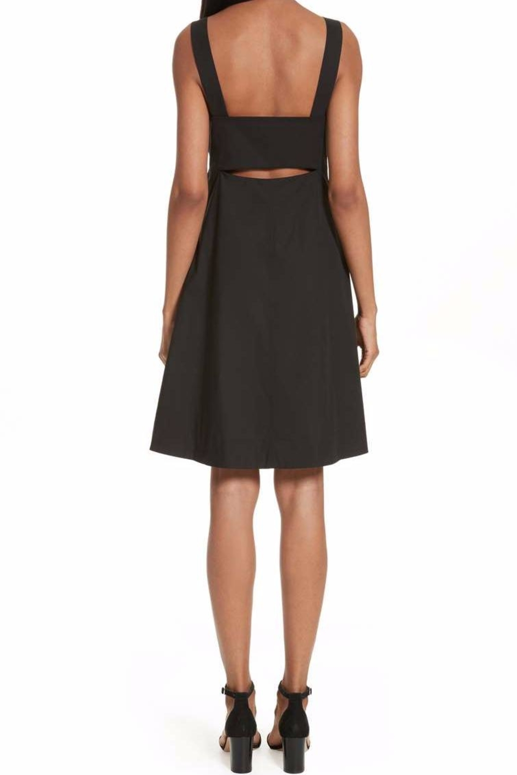 Theory Black Cocktail Dress - Front Full Image