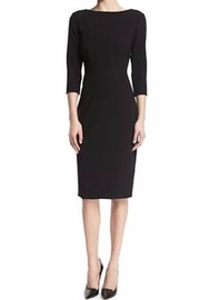 Theory Black Crepe Dress - Front cropped