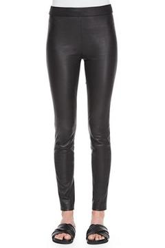 Theory Black Leather Leggings - Alternate List Image