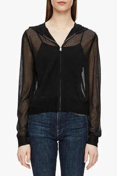Theory Crimped Knit Hoodie Top - Product List Image
