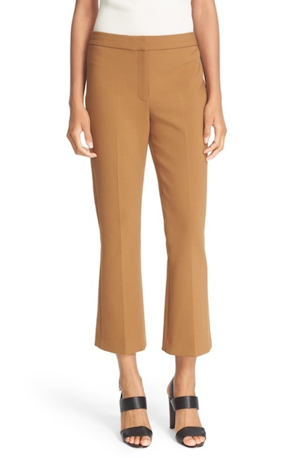 Theory Cropped Tan Pants - Main Image
