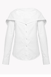 Theory Draped Collar Shirt - Product Mini Image