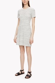 Theory Grey Ribbed Dress - Front cropped