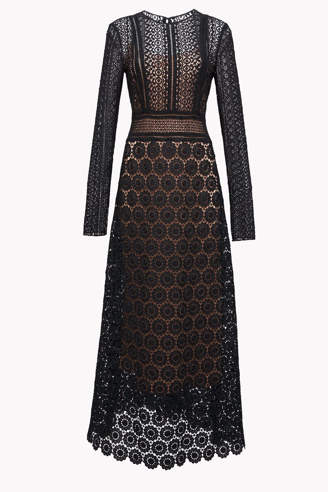 Theory Mixed Lace Maxi Dress from Pittsburgh by Rue Boutique ...