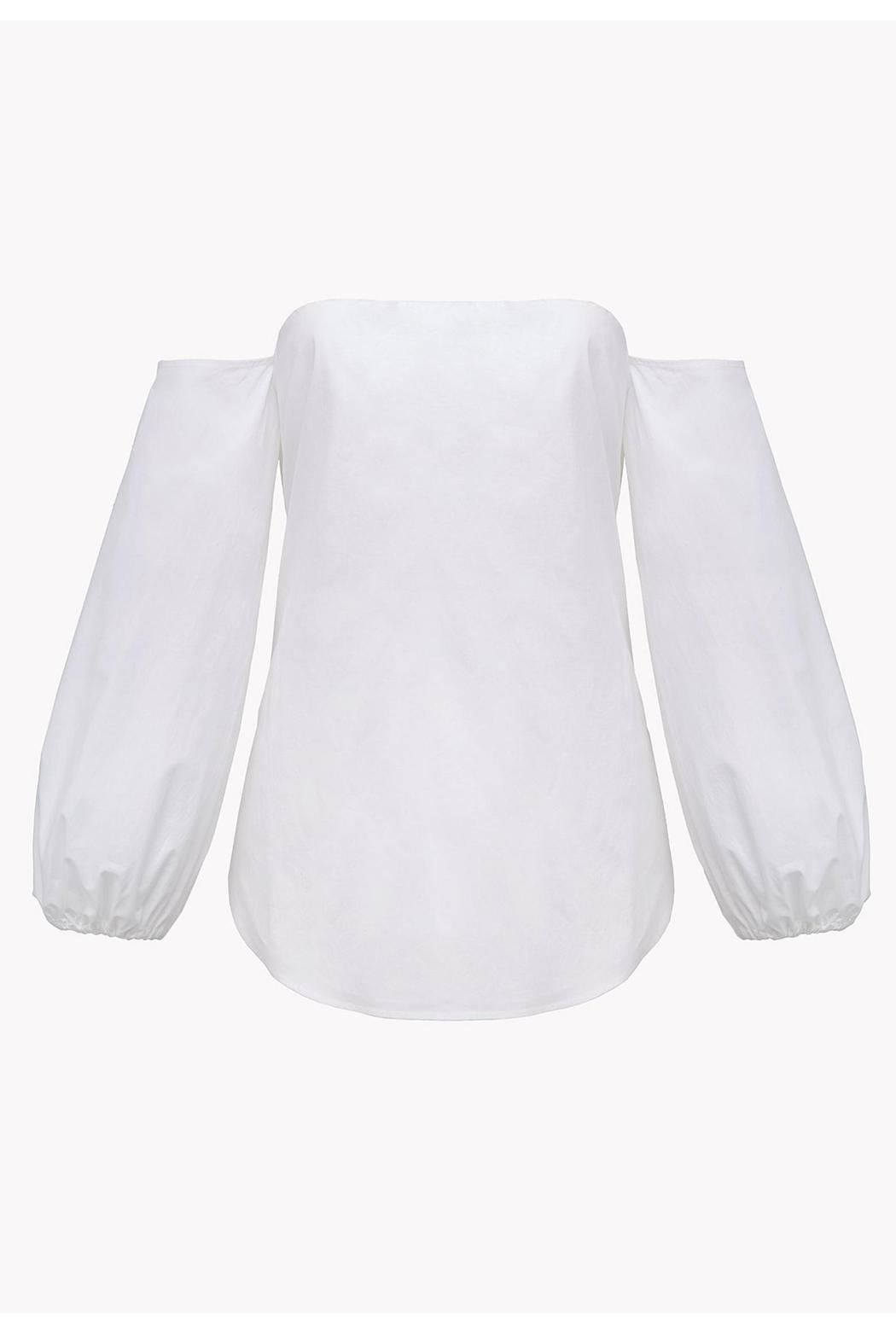 Theory Off Shoulder Blouse - Back Cropped Image