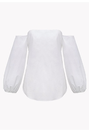 Theory Off Shoulder Blouse - Back cropped