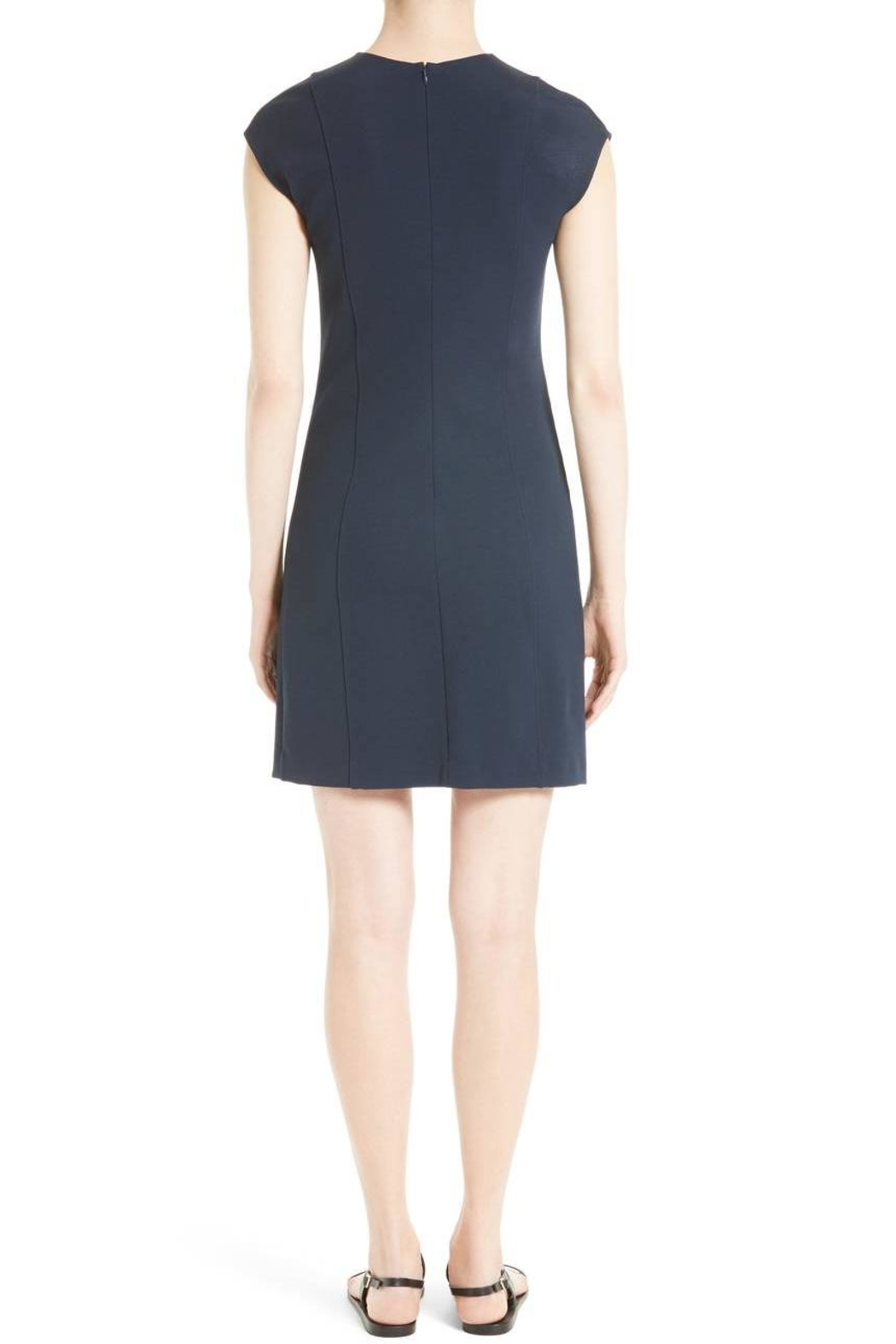 Theory Pique Capsleeve Dress - Front Full Image