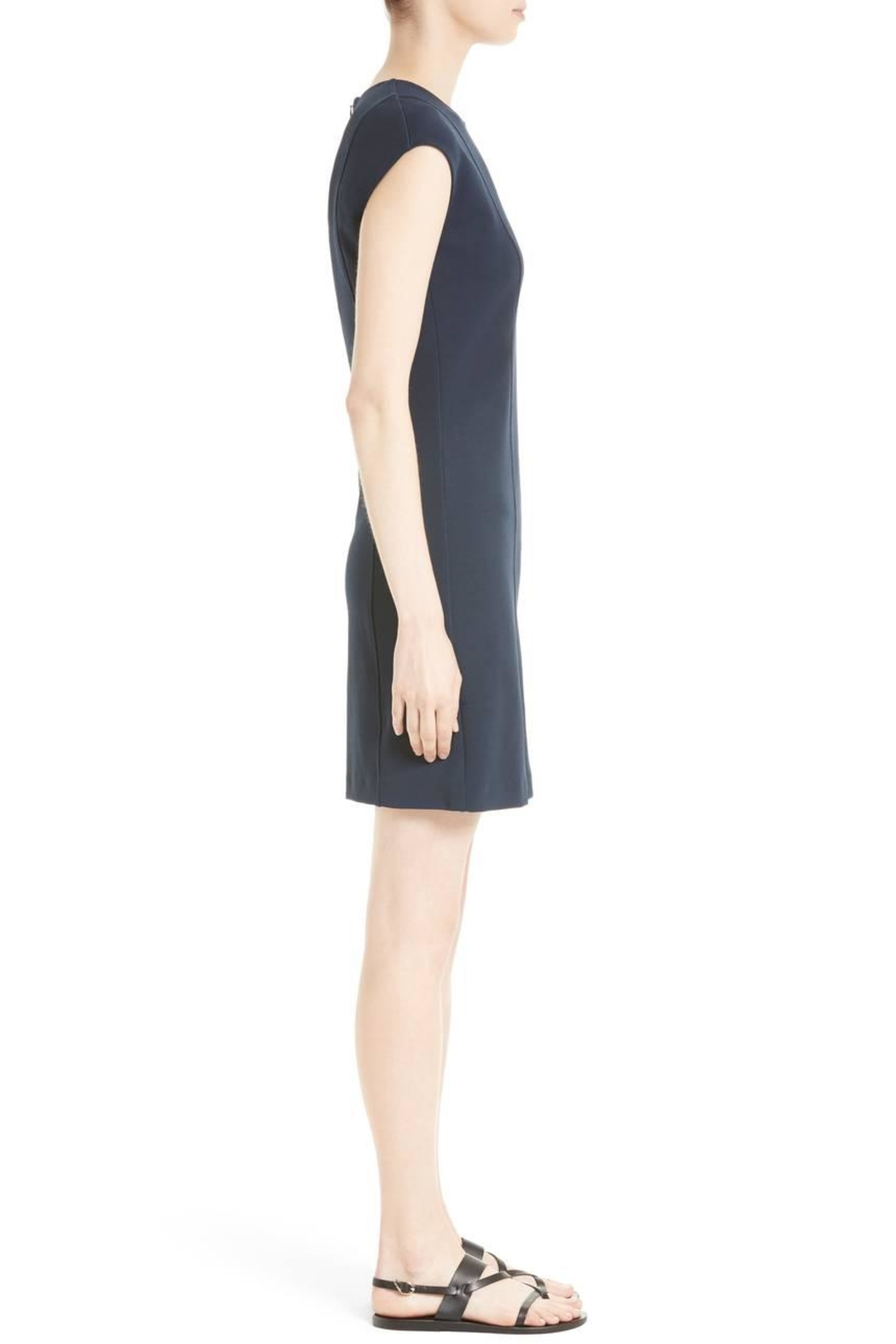 Theory Pique Capsleeve Dress - Side Cropped Image