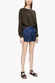 Theory Satin Military Short - Product Mini Image