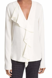 Theory Silk Ruffle Blouse - Product Mini Image