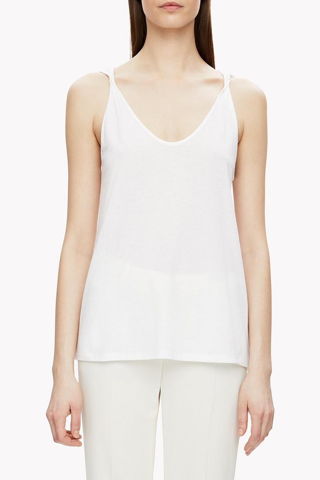 Theory Twisted Strap Tank Top - Front Cropped Image