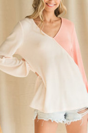 Bibi Thermal Color Block Top - Front cropped