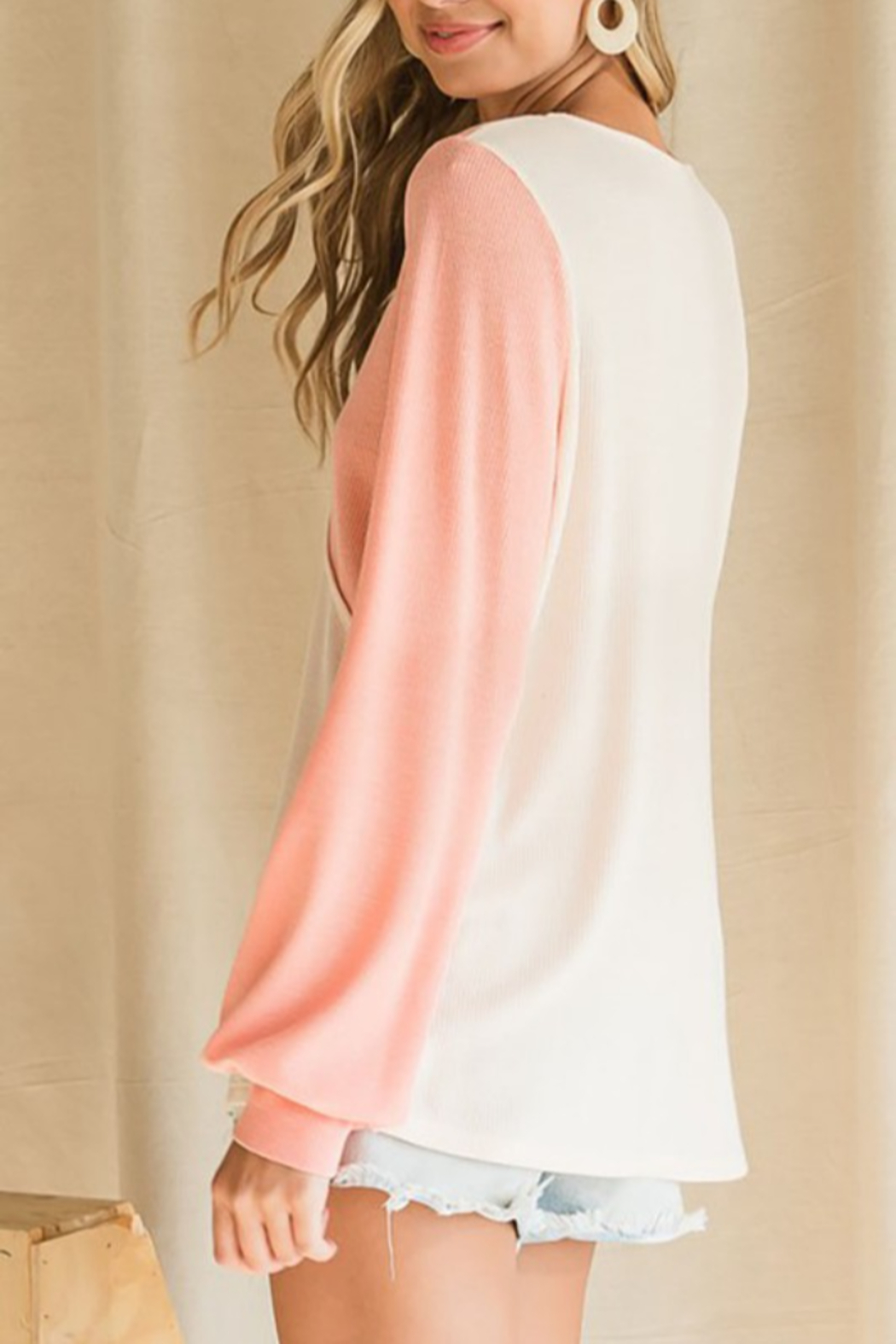 Bibi Thermal Color Block Top - Side Cropped Image