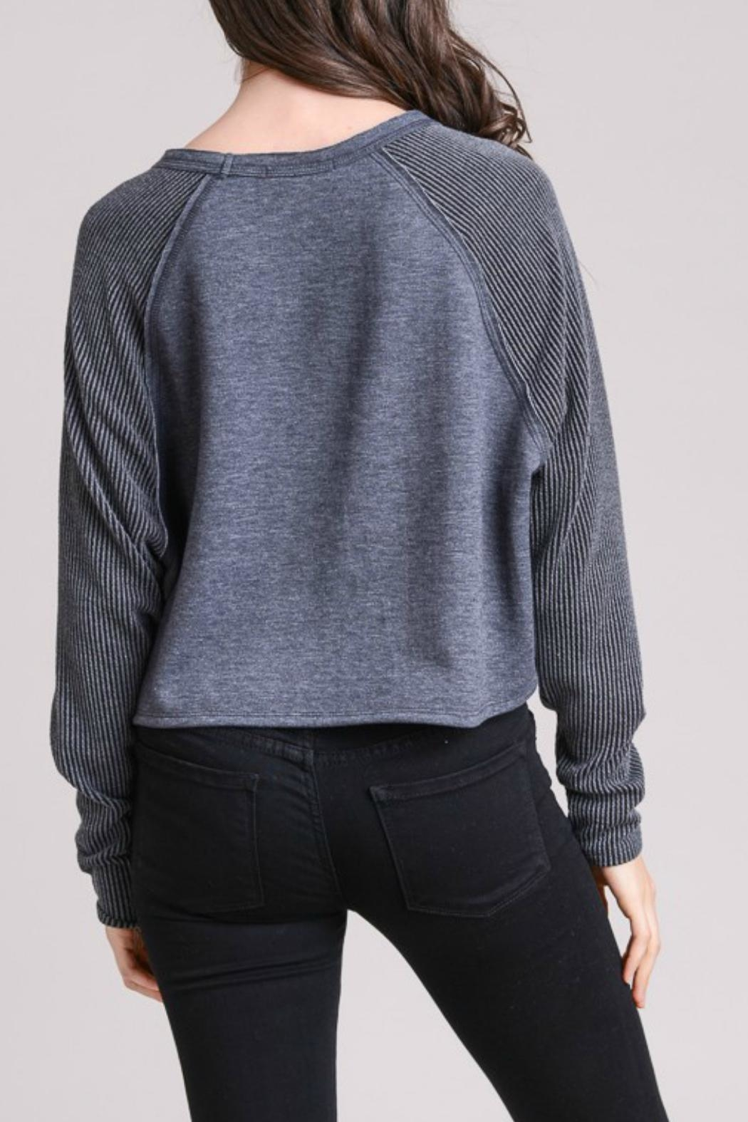 Le Lis Thermal Contrast Pullover - Front Full Image