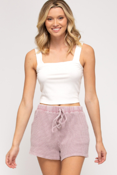 She + Sky Thermal Knit Shorts - Product List Image