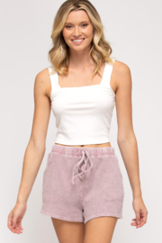 She + Sky Thermal Knit Shorts - Product Mini Image