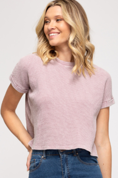 She + Sky Thermal Knit Top - Product List Image