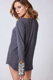 Bibi THERMAL KNIT TOP WITH BUTTONED FRONT PLACKET - Side cropped
