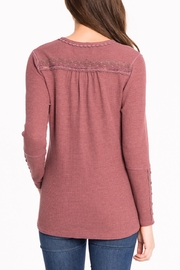 Biz Thermal Lace Henley - Front full body