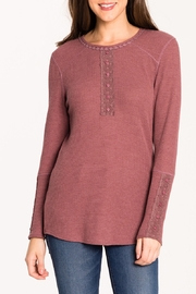 Biz Thermal Lace Henley - Front cropped