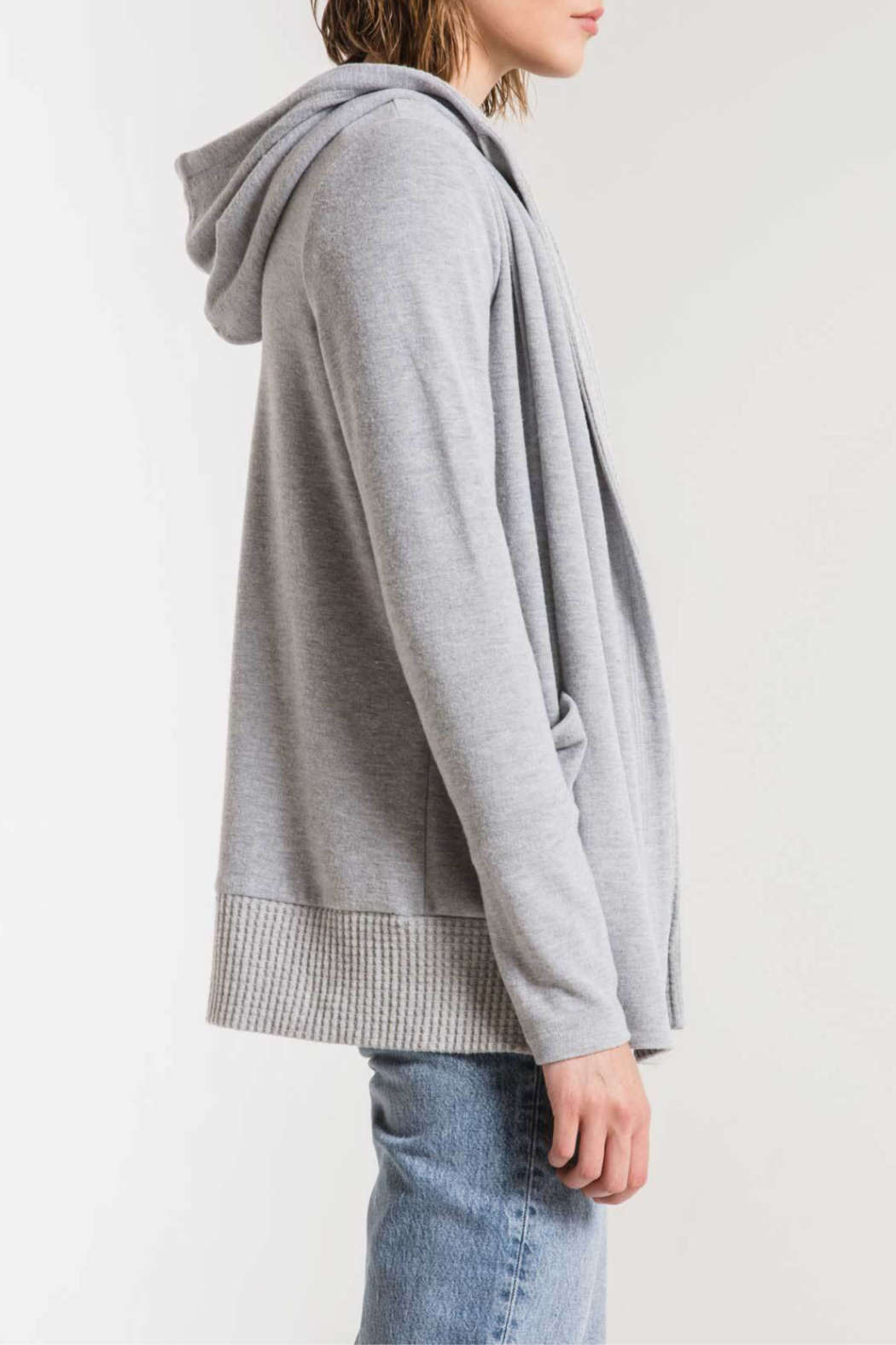 z supply Thermal Lined Soft Spun Cardigan - Front Full Image