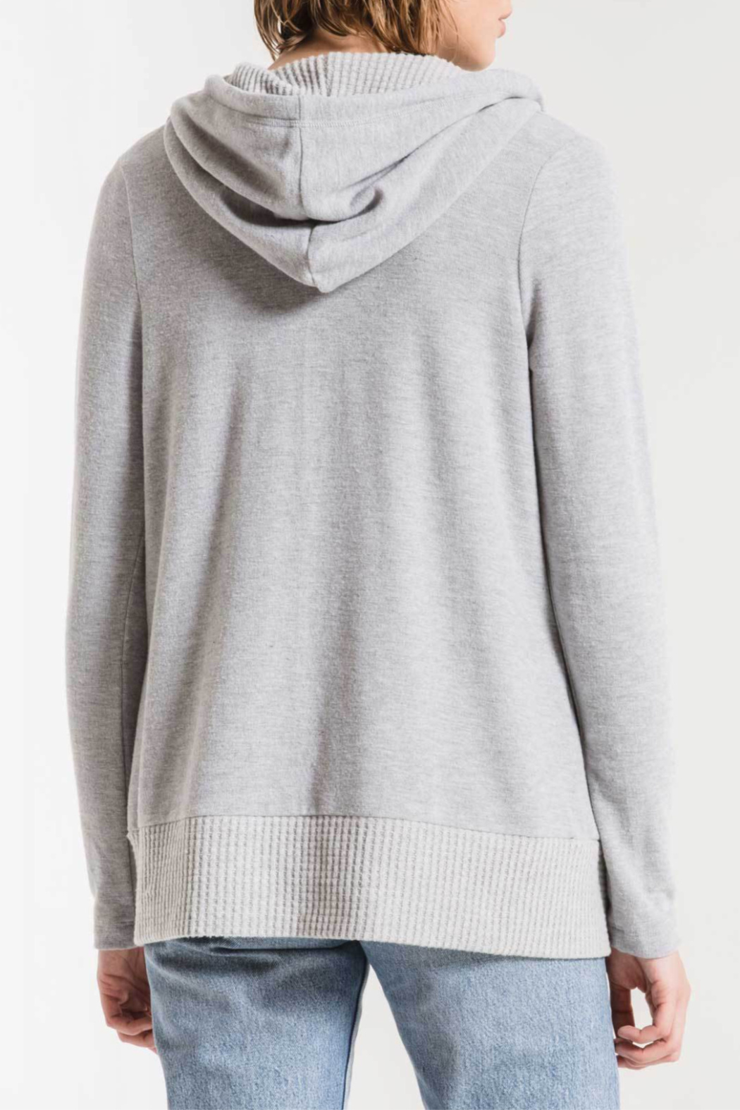 z supply Thermal Lined Soft Spun Cardigan - Side Cropped Image