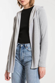 z supply Thermal Lined Soft Spun Cardigan - Front cropped