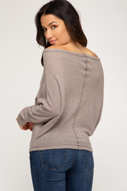She + Sky Thermal O-T-S Top - Front full body