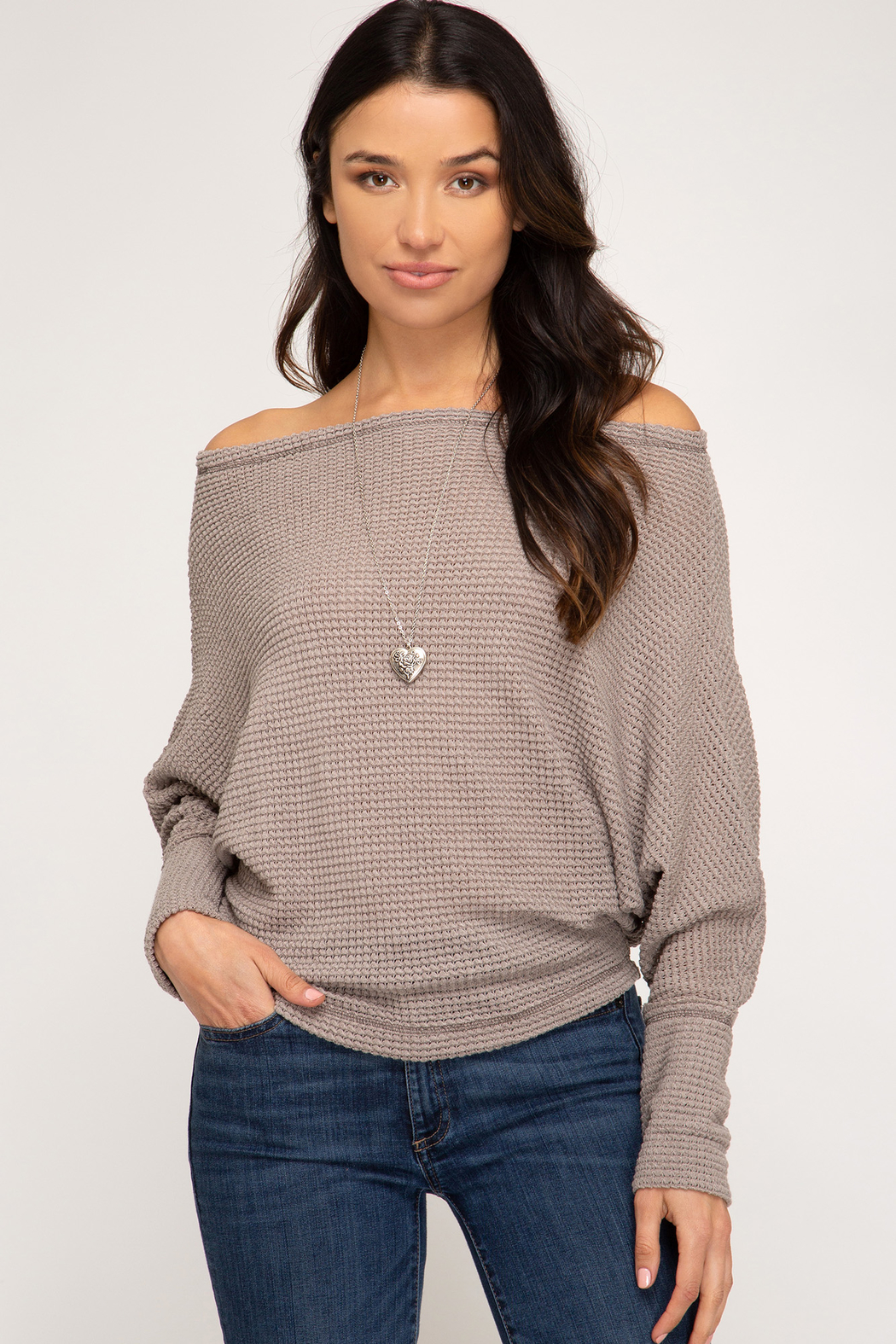 She + Sky Thermal O-T-S Top - Front Cropped Image