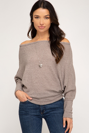 She + Sky Thermal O-T-S Top - Front cropped