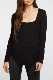 Chaser Thermal Snap Cuff L/S Square Neck Top - Product Mini Image