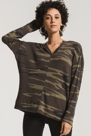 z supply Thermal Split Neck Top - Product Mini Image