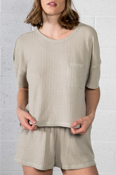 Very J  Thermal V-Neck Top - Product List Image