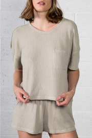 Very J  Thermal V-Neck Top - Product Mini Image