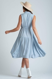 lucca couture Thetis Button Front Midi Dress - Front full body