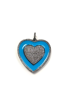 Lovely Lisa Thick Elaborate-Heart Charm - Product List Image