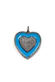 Lovely Lisa Thick Elaborate-Heart Charm - Product Mini Image