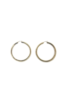 Lets Accessorize Thick Gold Hoops - Product List Image
