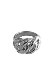 Malia Jewelry Thick Links Ring - Front cropped